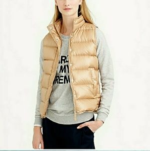J. crew Shiny down puffer vest size small